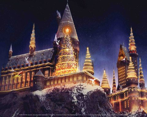 Christmas in the Wizarding World Harry Potter at Universal Studios Hollywood